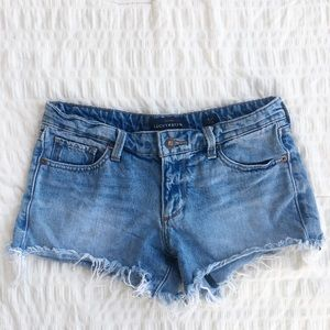 Lucky Brand Medium Wash Denim Cutoff Shorts 0